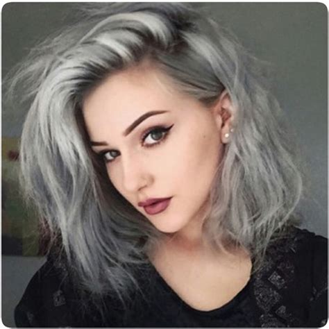 Granny Hair Young Women Dyeing Their Hair Gray Is The