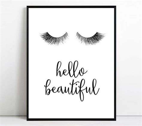 eyelashes print eyelash printable art  beautiful wall art