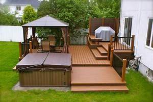 patio plus patio et spa cours exterieur pinterest With plan pour terrasse exterieur