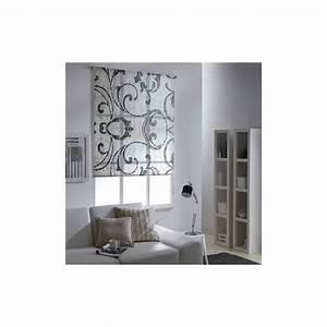 Store Bateau Gris : store enrouleur tamisant arabesque gris ~ Edinachiropracticcenter.com Idées de Décoration