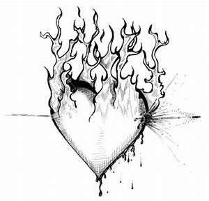Cool Drawings Of Hearts With Fire - ClipArt Best - ClipArt ...