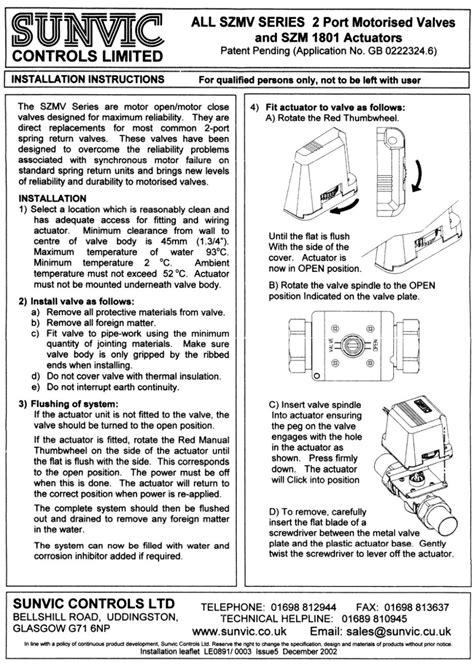 sunvic motorised valve wiring diagrams 38 wiring diagram