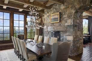 formal country rustic dining room by jerry locati