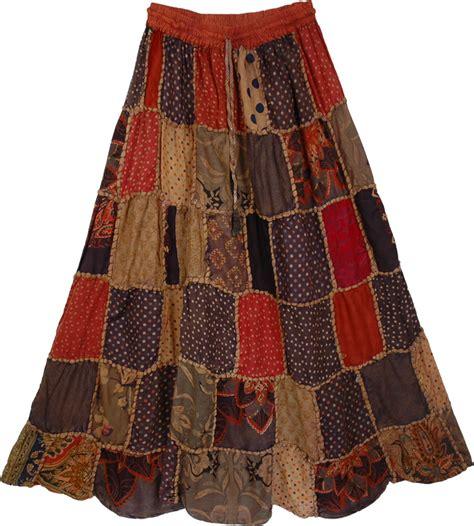 boho ls for sale designer panel hippie cotton skirt clearance patchwork