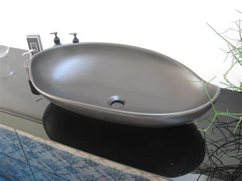 lavello da appoggio arlex lavabo appoggio miyuki nero satinato design ceramica