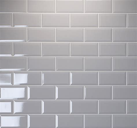 metro ambience arctic grey brick shaped wall tile with a