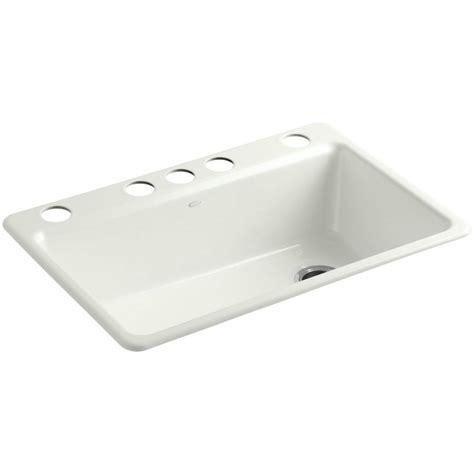 kohler kitchen sink accessories kohler riverby undermount cast iron 33 in 5 hole single