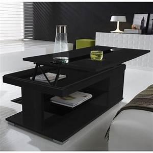 Table Basse Noir : table basse relevable bar ~ Teatrodelosmanantiales.com Idées de Décoration