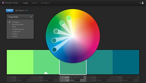 color wheel adobe new kuler iphone app and website redesign creative cloud