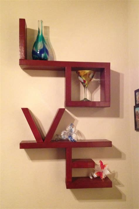 Wooden Love Shelf I Would Love To Make This We Need A