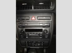 Frente Moldura 2 Din Audi A3 E A4 0206 Preto Soft Touch