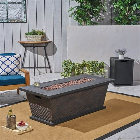 Check spelling or type a new query. Meyer Outdoor Wicker/Concrete 56-inch 50,000 BTU Fire Pit by Christopher Knight Home - On Sale ...