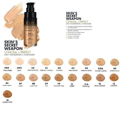 milani perfect foundation concealer ml choose