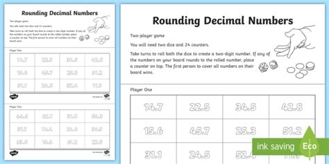 rounding decimal numbers activity nearest whole number round estimate