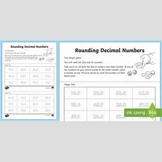 Rounding Decimal Numbers Activity  Nearest Whole Number, Round, Estimate