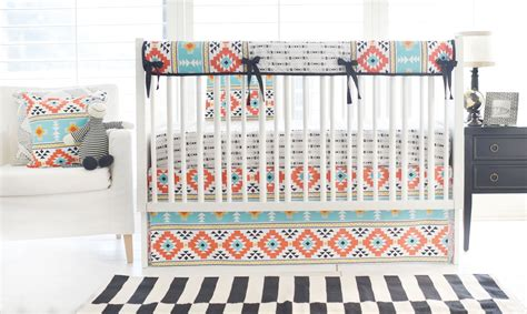Aztec Crib Bedding by On Trend While Still On Budget Project Nursery