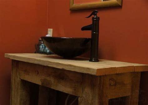 rustic bathroom vanities vessel sinks moss cottage