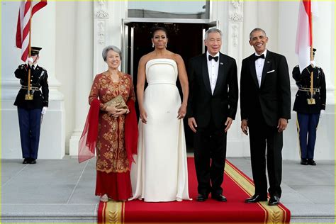 barack michelle obama  glam  white house state
