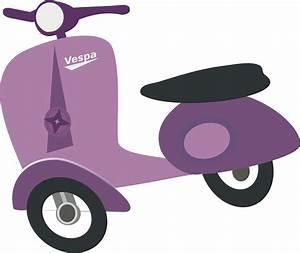 Clipart - Purple Vespa scooter