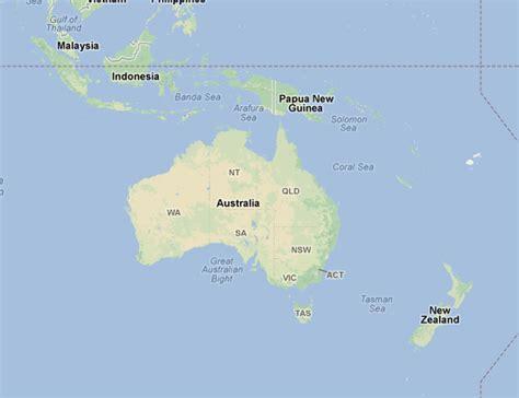 map  australia  zealand  indonesia