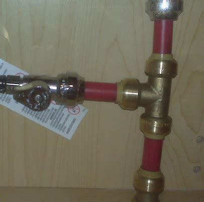 kitchen sink supply lines pex plumbing how do i tap into the pex water supply line