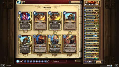 My Complete Golden Control Warrior Deck  Warrior Class
