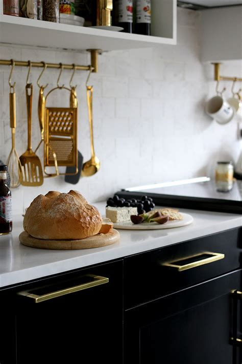 The REVEAL of our Black White and Gold Kitchen - Swoon Worthy