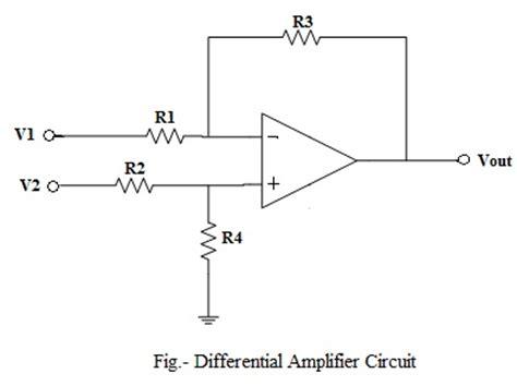 op amp differential amplifier circuit voltage subtractor