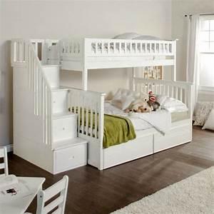Lit Superposé Escalier : enfants lit superpos escaliers p pini re fonctionnelle ~ Premium-room.com Idées de Décoration