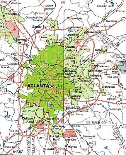 maps  dallas atlanta map