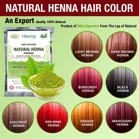 Organic Henna Hair Dyecolor 60 Grams For Men And Women 100