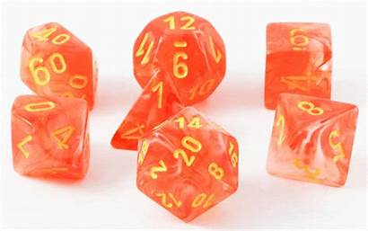 Dice Orange Glow Ghostly Rpg Role Playing