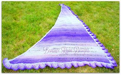 Shawl Purple Crochet Pattern Fades Beatriceryandesigns Deep