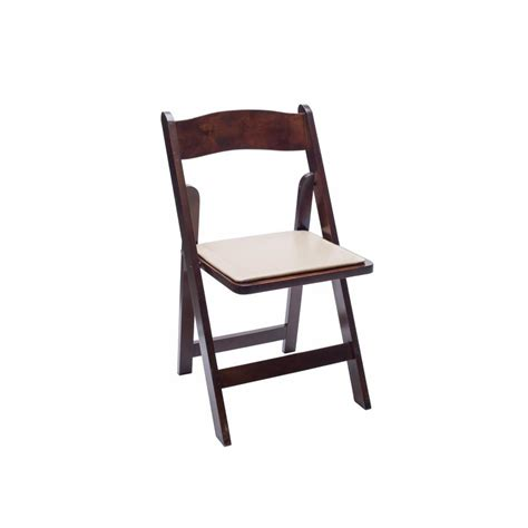 baker rentals fruitwood folding chair rentals