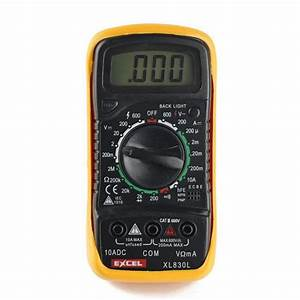 Lcd Digital Dc  Ac Multimeter Xl830l Voltmeter Ammeter