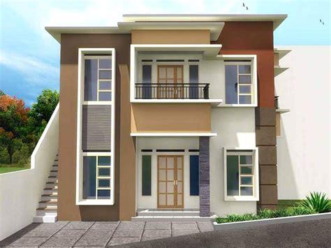 gambar desain rumah minimalis warna coklat wallpaper dinding