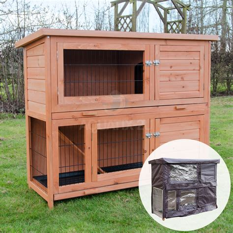 large rabbit hutches for sale 4ft large rabbit hutch and run with 2 tiers wooden ferret