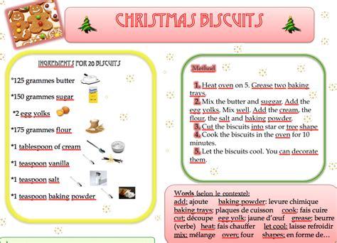 faire la cuisine en anglais recette des biscuits cooking anglais