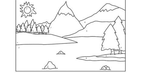 Imagenes de montañas para colorear Imagui