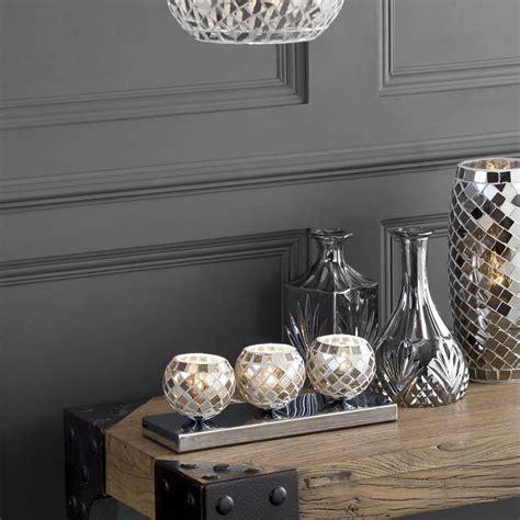 light mosaic tea cup table lamp silver  litecraft