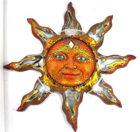 orange sun jeweled decorative resin mirror wall art ebay