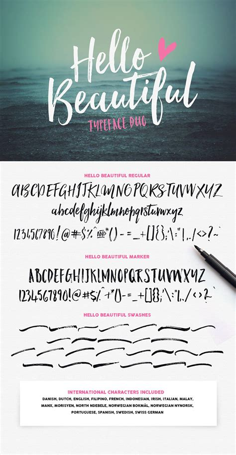 Beautiful Scripts And Fonts by Hello Beautiful Font Duo Swashes Fonts On Creative