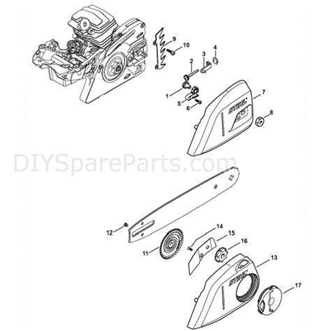 stihl ms  chainsaw ms  beq parts diagram chain