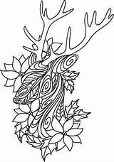 Coloring Pages Christmas Urban Threads Unique Awesome Embroidery Deer Doodles Designs Urbanthreads Quilling sketch template