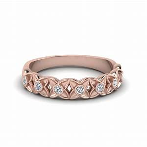 floral diamond wedding band in 18k rose gold fascinating With flower wedding rings diamond