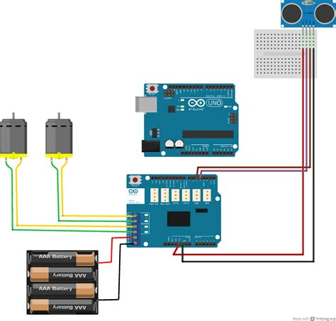 arduino wiring for ultrasonic motors learning robotics