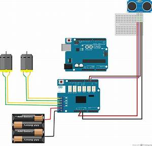 Arduino Wiring For Ultrasonic  U0026 Motors