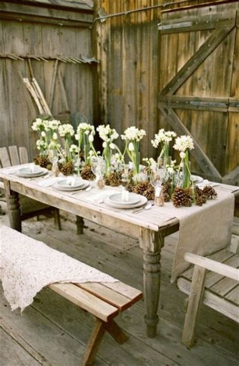 beautiful outdoor christmas table settings digsdigs