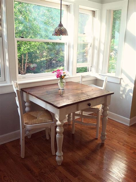perfect breakfast nook petite farm table