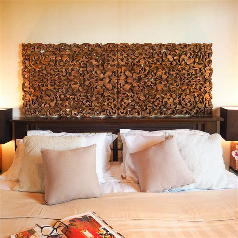 Wood Headboards King by Buy Tropical Frond King Size Headboard